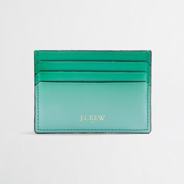 Ombré leather card holder