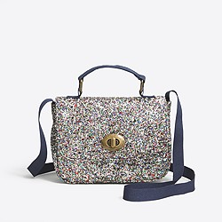 Girls' glitter mini purse