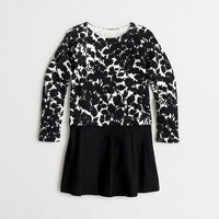 Girls' floral sweatshirt dress