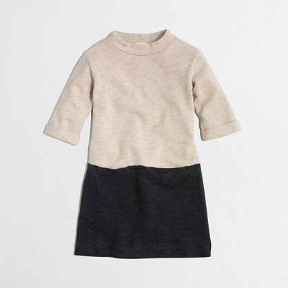 Girls' colorblock sweatshirt dress
