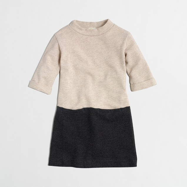 Girls' colorblock sweatshirt dress