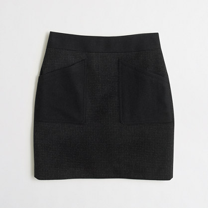 Patch-pocket mini skirt