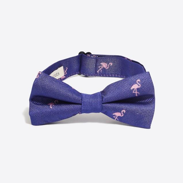 Boys' critter silk bow tie