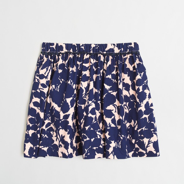 Girls' floral flounce skirt