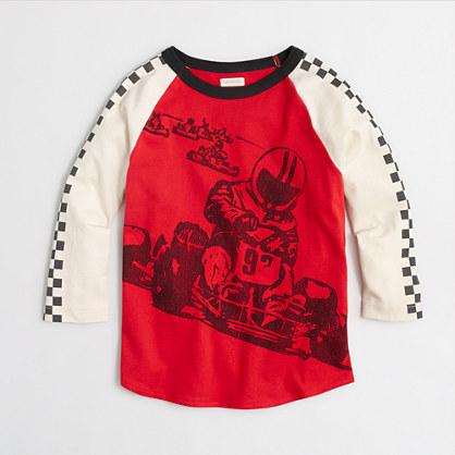 Boys' go-kart baseball storybook T-shirt
