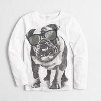 Boys' long-sleeve bulldog shades storybook T-shirt