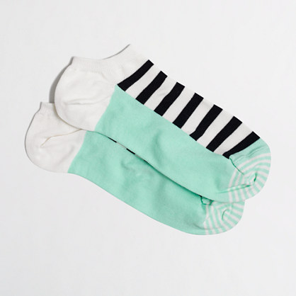 Block-striped tennie socks