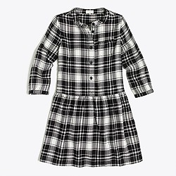 Girls' flannel shirtdress