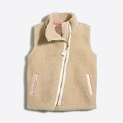 Factory girls' sherpa vest