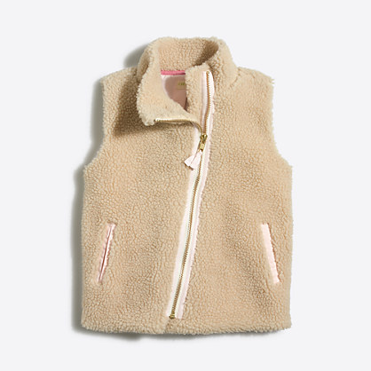 Girls' sherpa vest