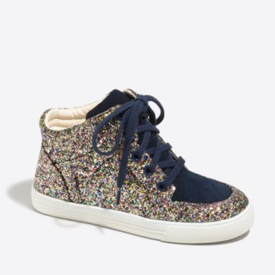 Girls' glitter high-top sneakers factorygirls shoes c