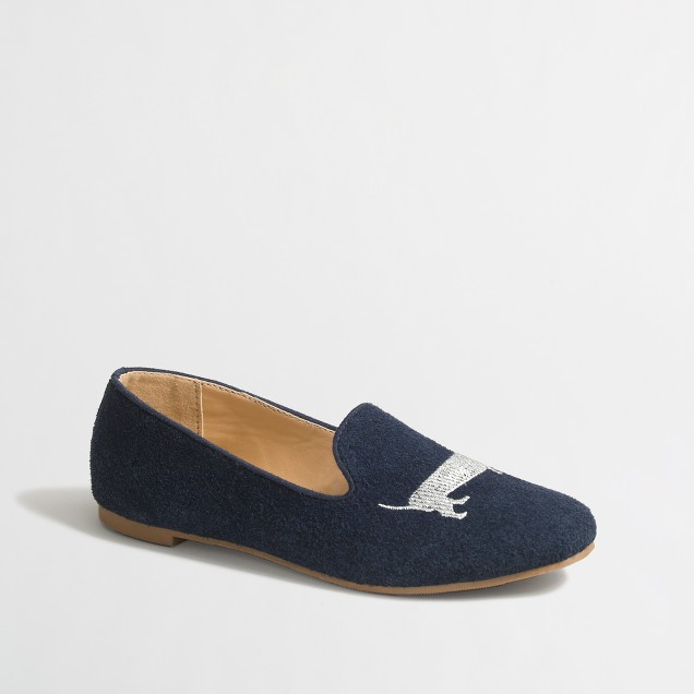 Girls' suede puppy love loafers