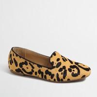 Girls' leopard calf hair loafers