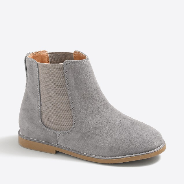 Girls' suede Chelsea boots