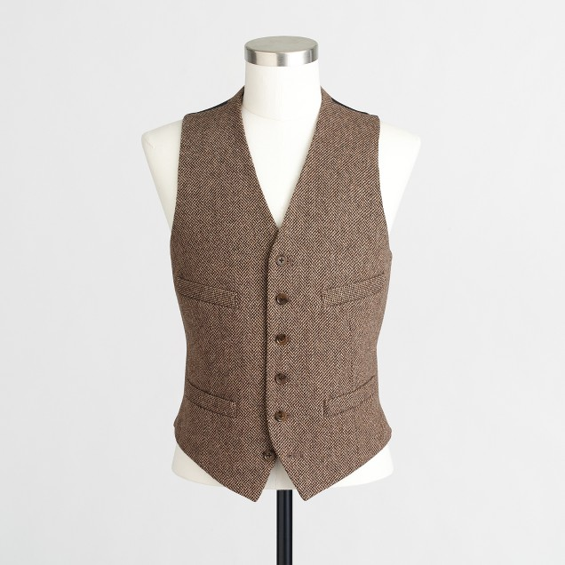 Thompson suit vest in bird's-eye wool