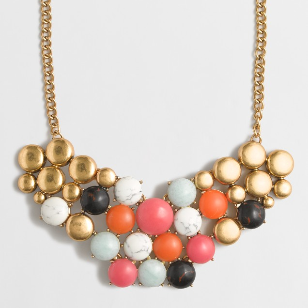 Spheres cluster necklace