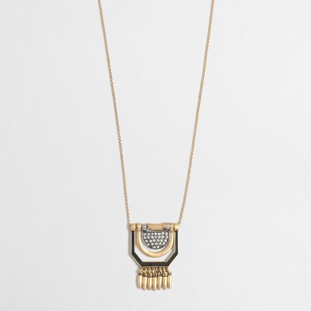 Swinging shapes pendant necklace