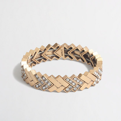 Golden chevron bracelet