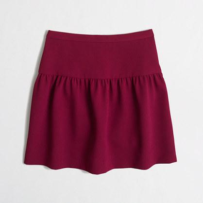 Crepe flounce skirt