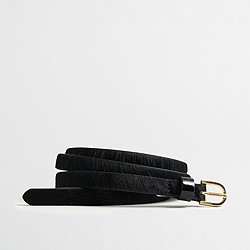 Factory calf hair belt