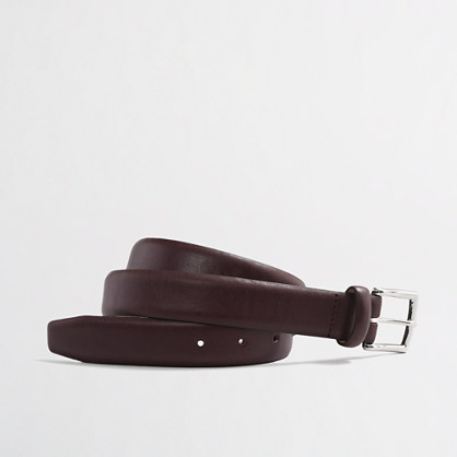 Burgundy classic leather dress belt