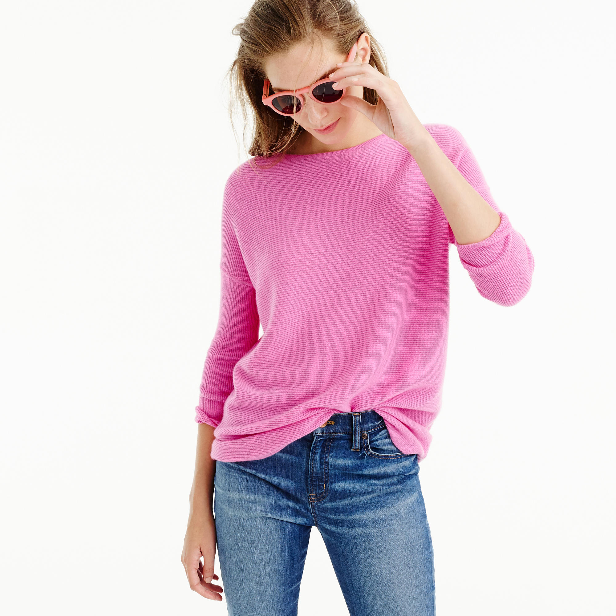 Italian Cashmere Boatneck Tunic : Women's Cashmere Sweaters | J.Crew