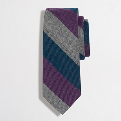 Striped wool tie