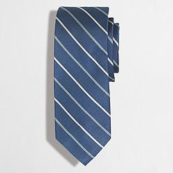 Factory blue-and-gold striped tie