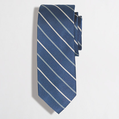 Blue-and-gold striped tie
