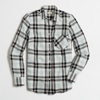 Herringbone plaid shirt
