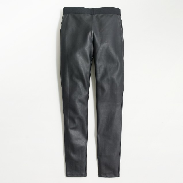 Petite faux-leather skinny pant