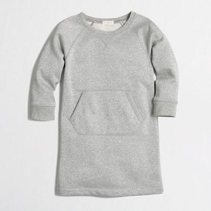 Girls' sparkle sweatshirt dress