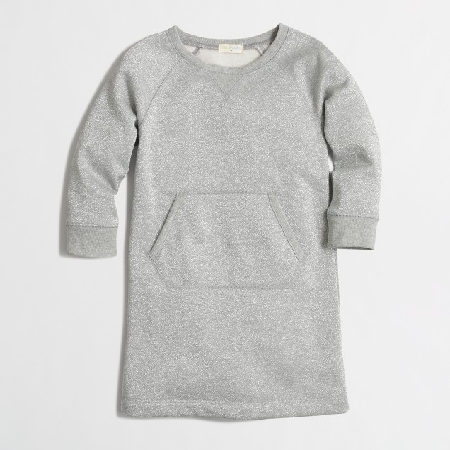 Girls' sparkle sweatshirt dress