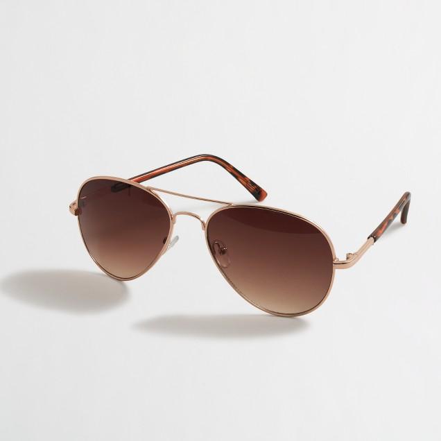 Ombré-lens aviator sunglasses