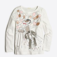 Girls' long-sleeve party girl keepsake T-shirt