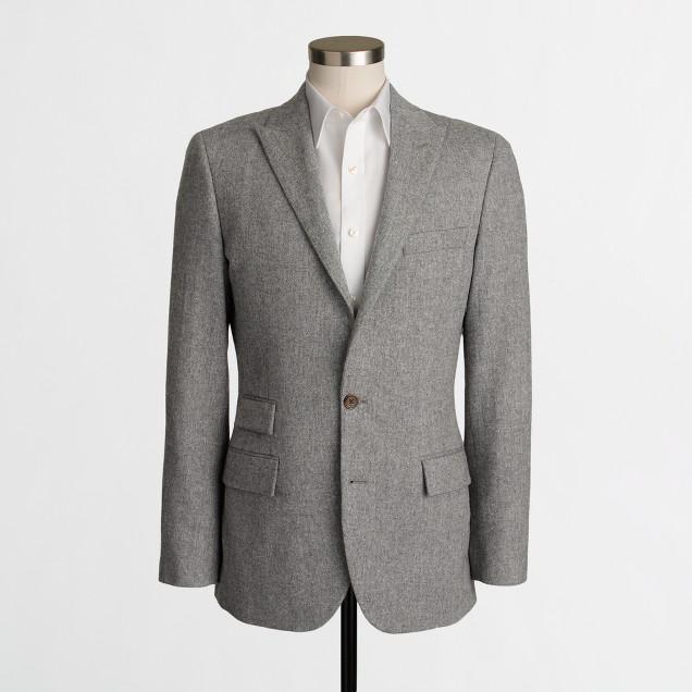 Thompson peak-lapel suit jacket in Donegal wool