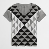 Drapey triangle collector T-shirt in airy cotton