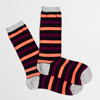 Multi-striped trouser socks