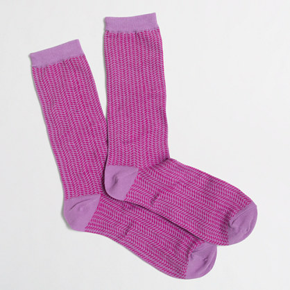 Zigzag striped socks