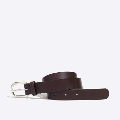 Boys' leather dress belt