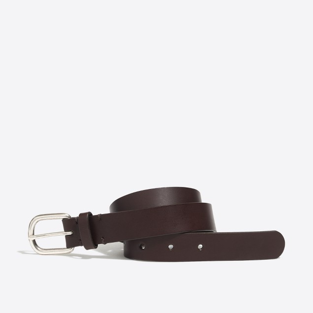 Boys' leather dress belt
