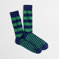 Rugby-striped socks