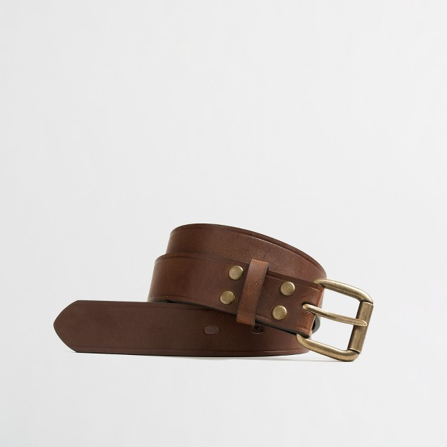 Boys' leather jeans belt