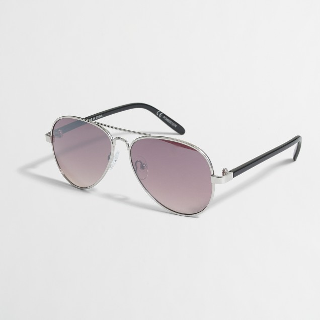 Boys' metallic aviator sunglasses