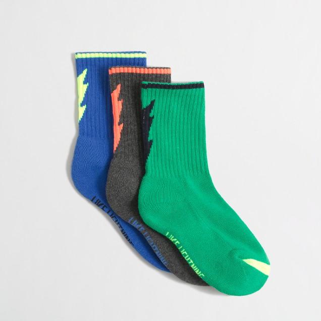 Boys' lightning socks three-pack