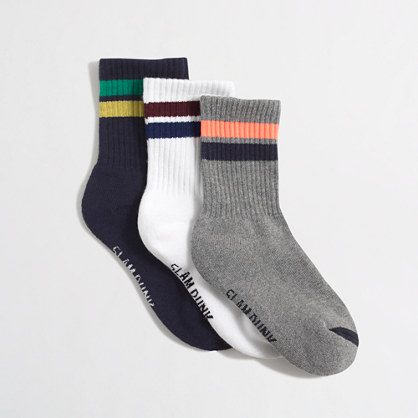 Boys' tube socks three-pack