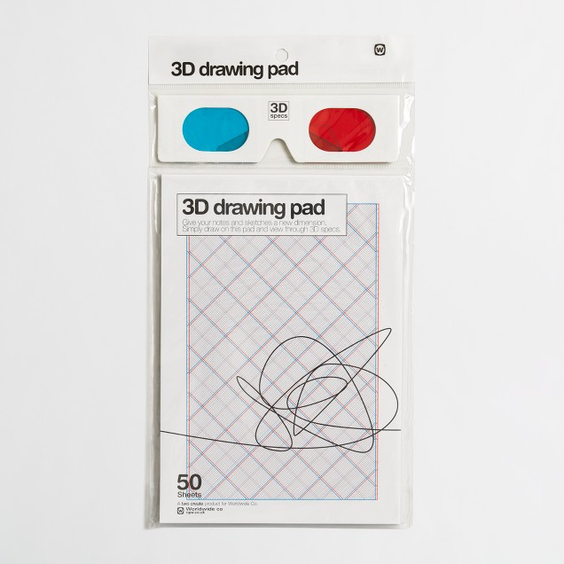 Boys' npw™ 3-D drawing pad