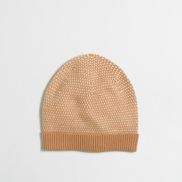 Cardigan stitch hat