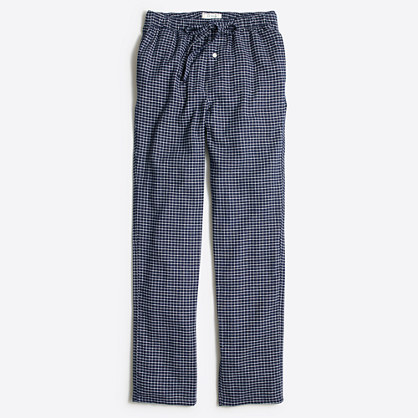 Check flannel sleep pant