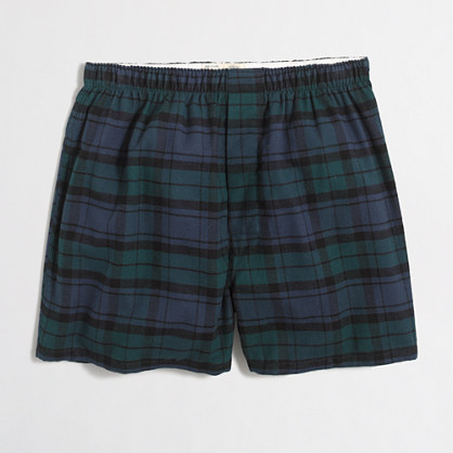 Black Watch flannel boxers